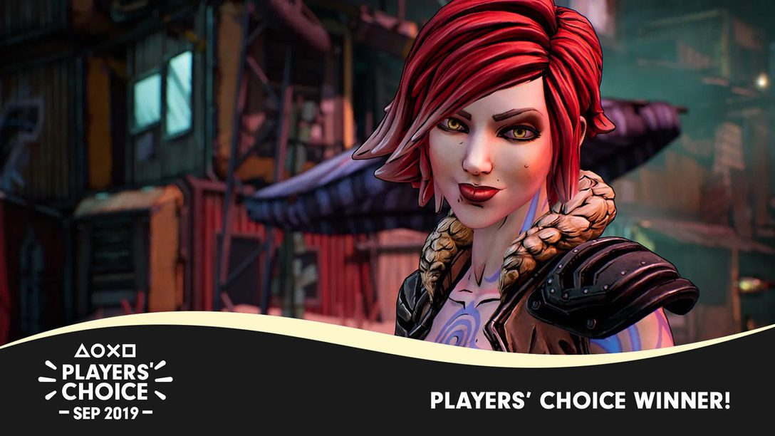 Players' Choice: Borderlands 3 Voted September's Best New Game
