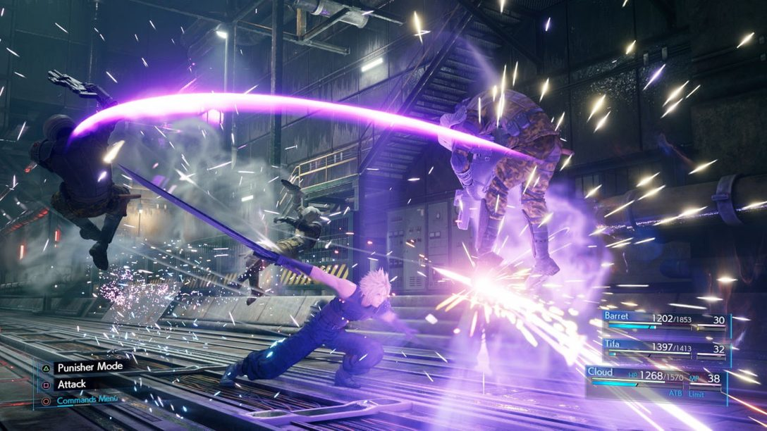 New Final Fantasy VII Remake Screens Feature Cloud, Combat and More