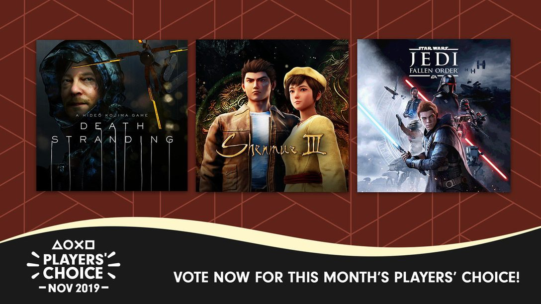 Players' Choice: Vote Now for November's Best New Game