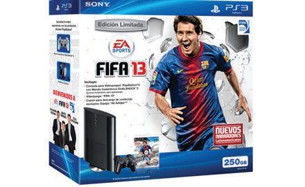 Paquete Edición especial FIFA 13 con el nuevo modelo de PS3