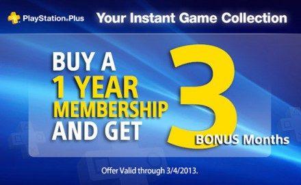 Contrata un año de PlayStation Plus, y llévate tres meses gratis