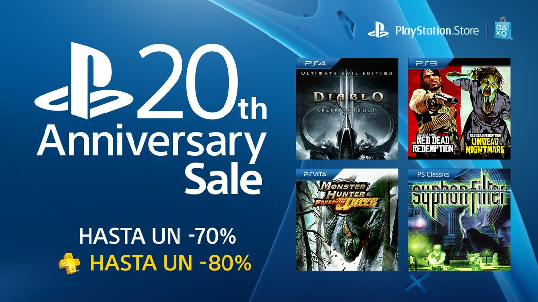 PlayStation 20th Anniversary Sale: Más de 200 Títulos, y hasta 70% de descuento