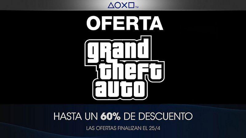 Oferta de Grand Theft Auto en  PlayStation Store para LATAM