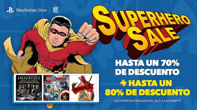 Superhero Sale: Ahorren hasta 70%; PS Plus hasta 80%