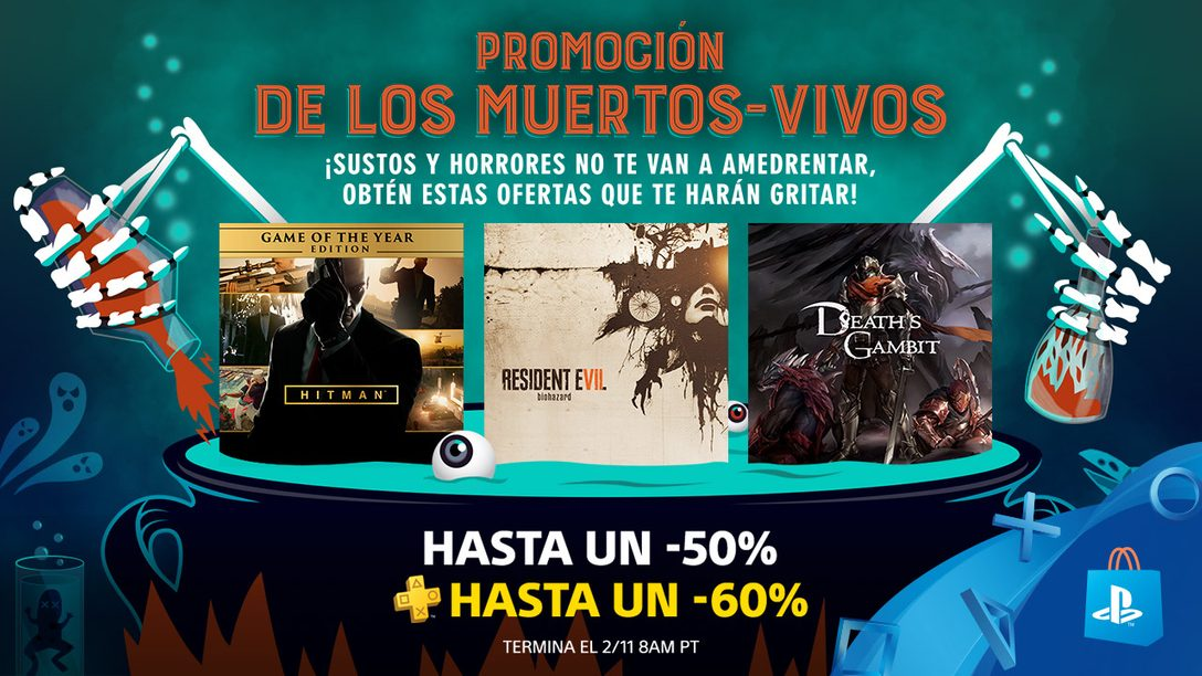 ¡Segunda Semana de la Promoción de los Muertos Vivos! Ahorren hasta 50% en Terroríficos Juegos