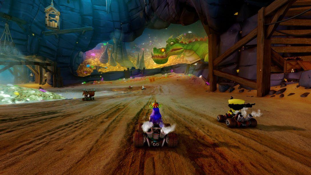 Primer Vistazo a las pistas Dragon Mines y Retro Stadium de CTR Nitro-Fueled