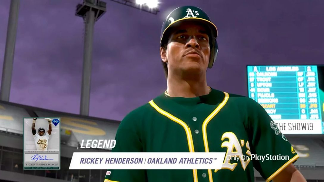 La Leyenda Rickey Henderson Lidera Diamond Bosses en MLB The Show 19