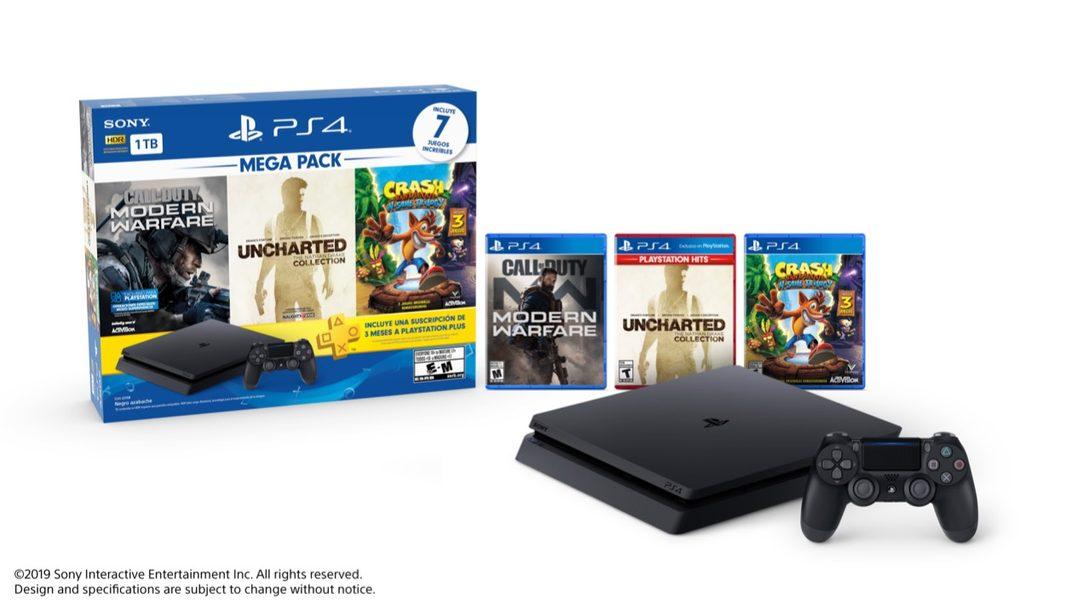 Este es el Nuevo Megapack de PlayStation 4 con Call of Duty: Modern Warfare, Uncharted Collection y Más