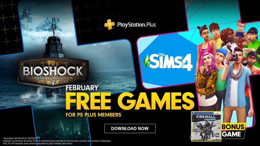 Bioshock: The Collection, The Sims 4 y Firewall Zero Hour son los Juegos Gratuitos de PS Plus en Febrero