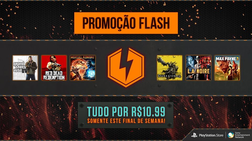 Flash Sale da PS Store: Games a R$ 10,99 este fim de semana