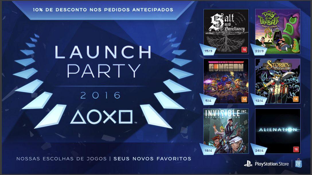 Apresentando a Launch Party da PlayStation Store: Seis Semanas, Seis Novos Jogos