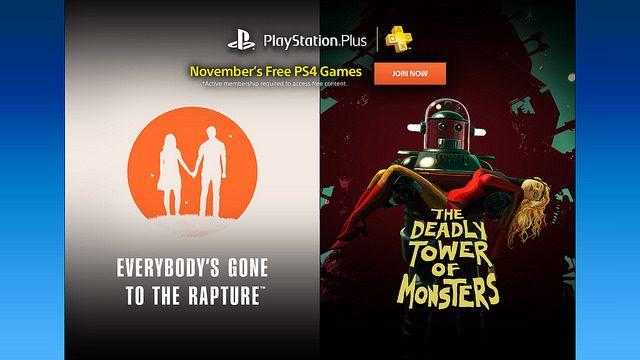 PS Plus: Jogos Gratuitos para Novembro de 2016