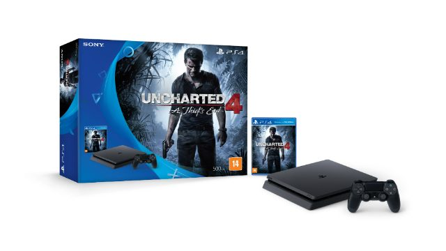 Bundle de Uncharted 4: A Thief's End e do PS4 Slim Chegando ao Brasil no Final de Novembro