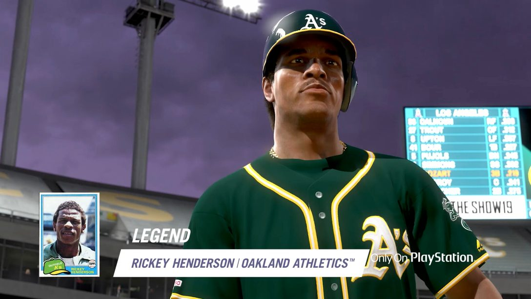 A Lenda Rickey Henderson Lidera os Diamond Bosses em MLB The Show 19