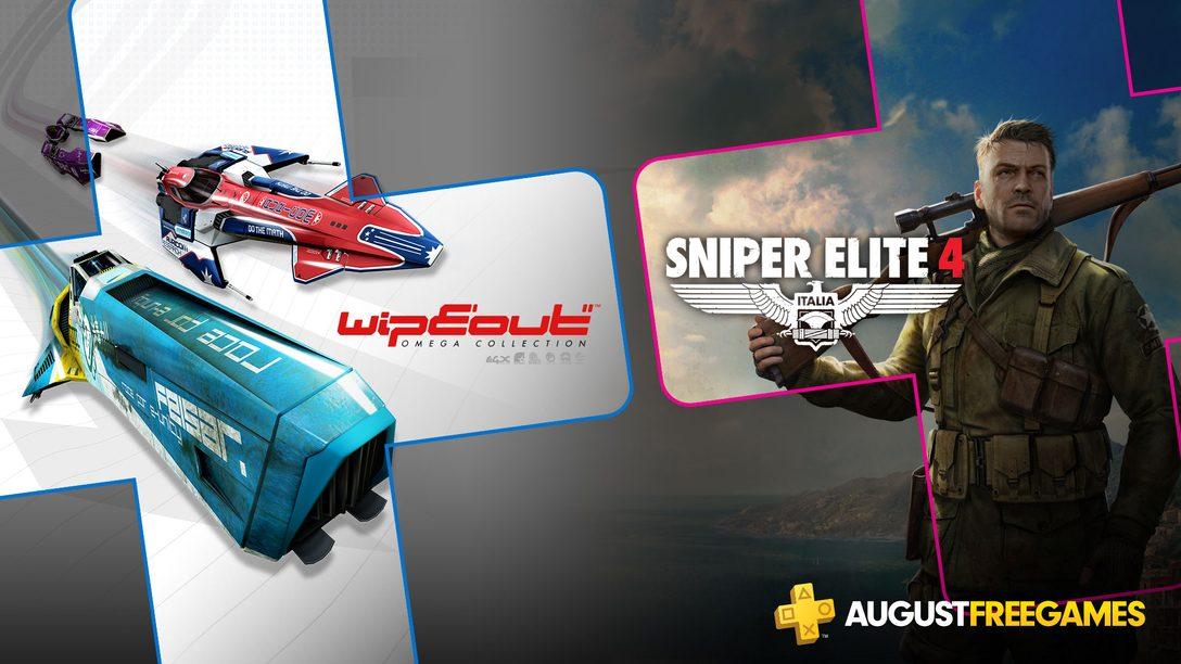 Jogos Gratuitos PlayStation Plus de Agosto: WipEout Omega Collection, Sniper Elite 4
