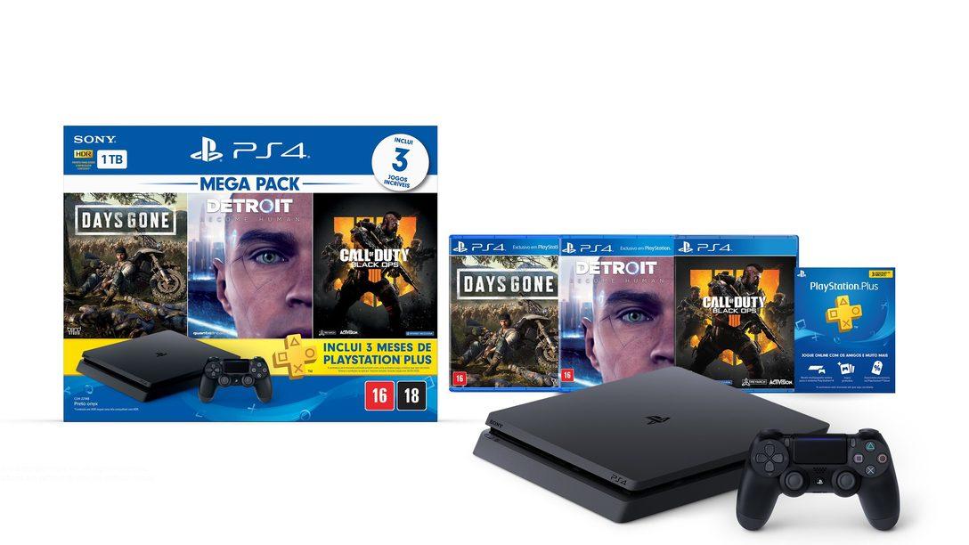 O Novo Bundle PlayStation 4 Mega Pack Chega às Lojas em Agosto