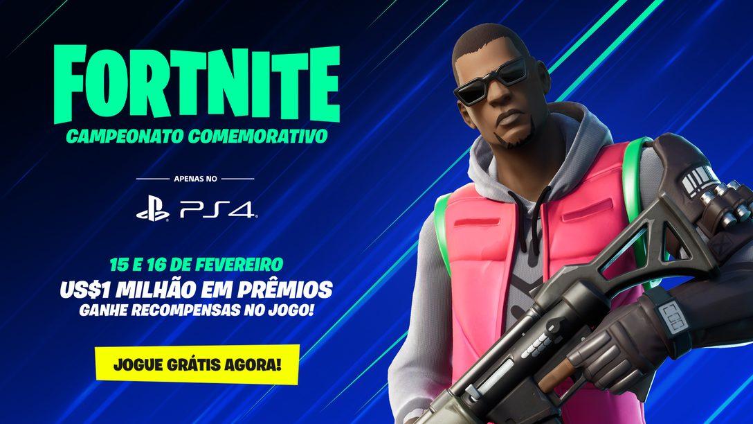 Campeonato Comemorativo de Fortnite – Apenas Para PS4