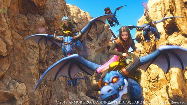『ドラゴンクエストXI』はモンスターに乗れる! 空を飛び、壁を乗り越えながら、広大な世界を大冒険!!